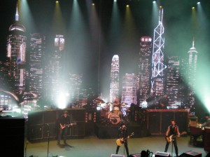 Green Day during one of the first two songs